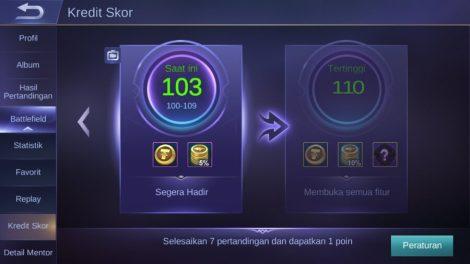 Mobile Legends Credit Score