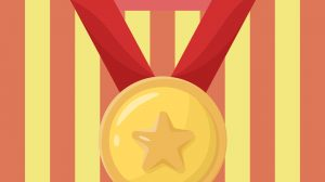 Gold Star Medal Free PNG