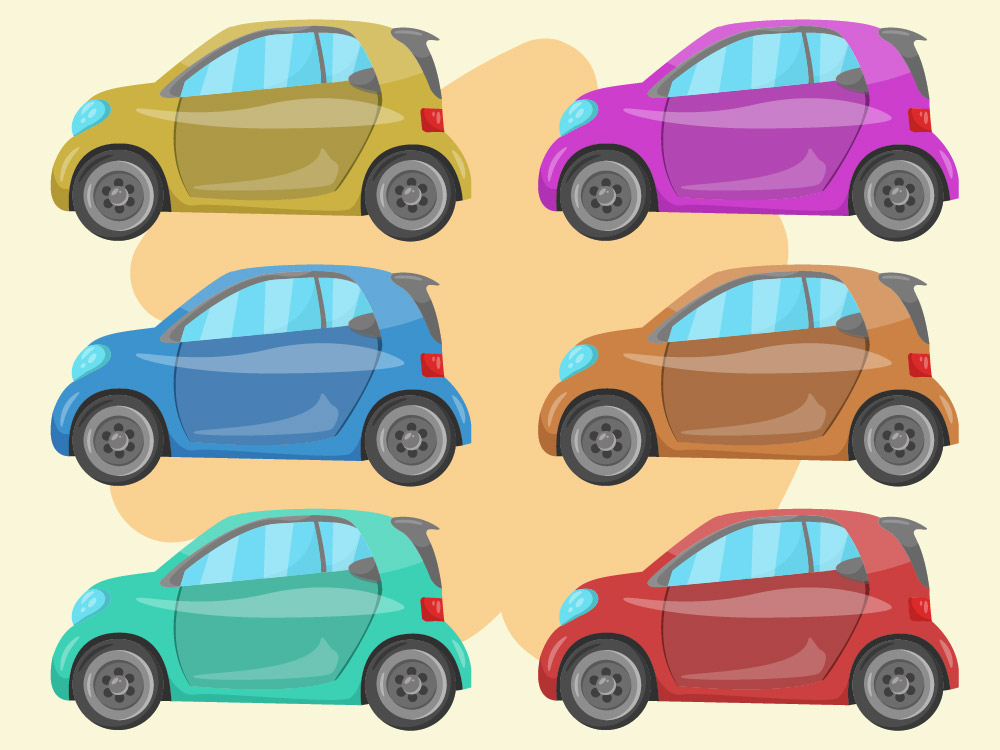 Mini Car Collection PNG Free