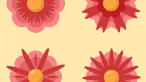 Red Flower Collection PNG Free