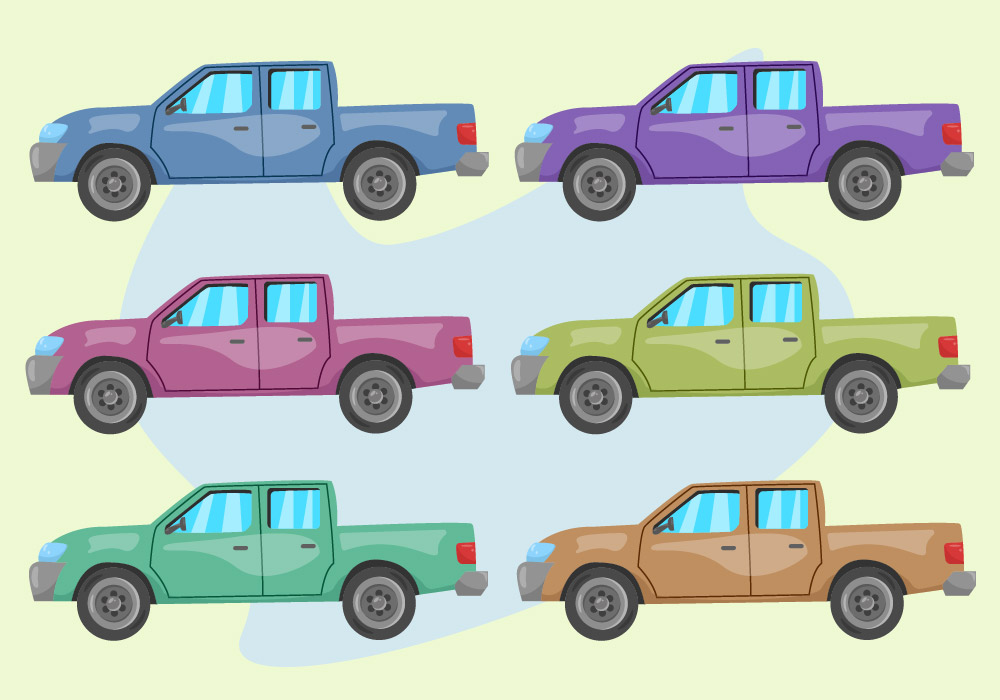 Truck Car Collection PNG Free