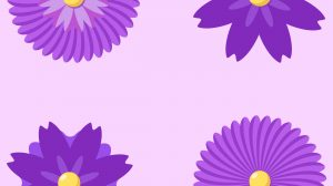 Violet Flower Collection PNG Free