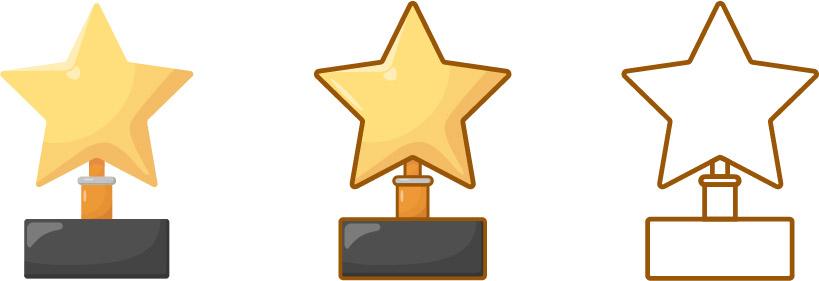 star gold trophy set