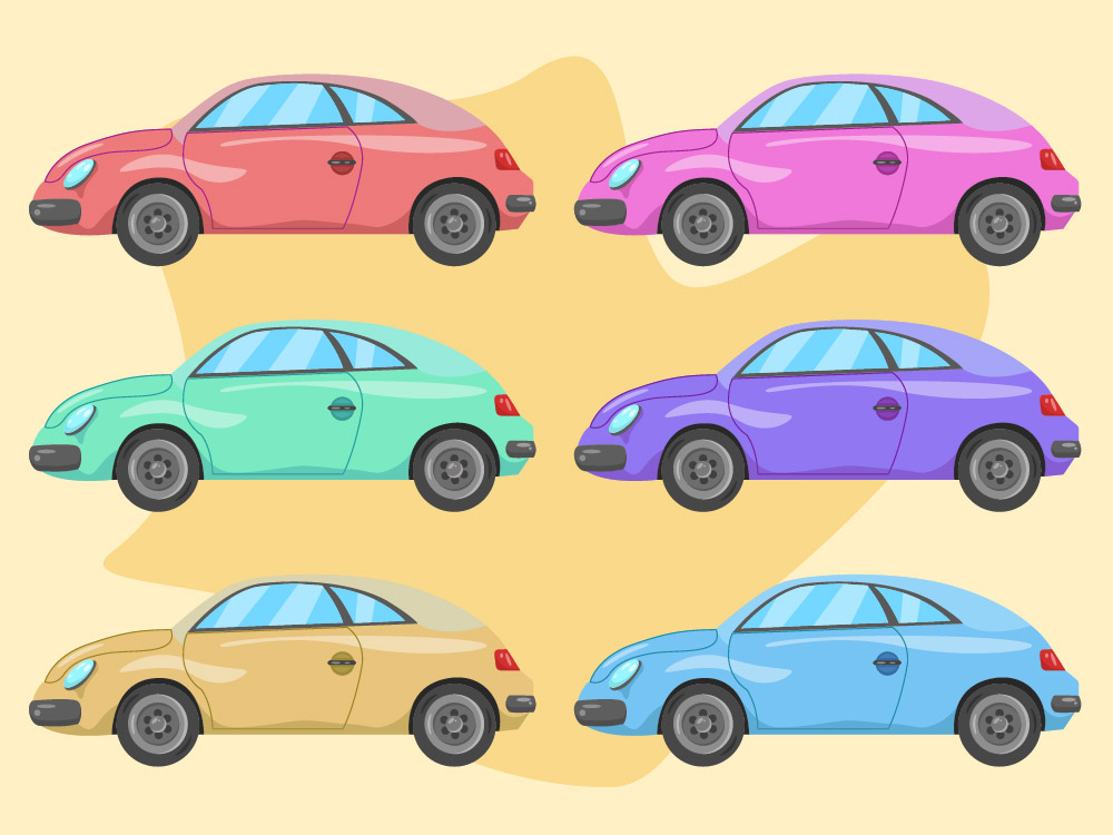Beetle Car Collection PNG Free