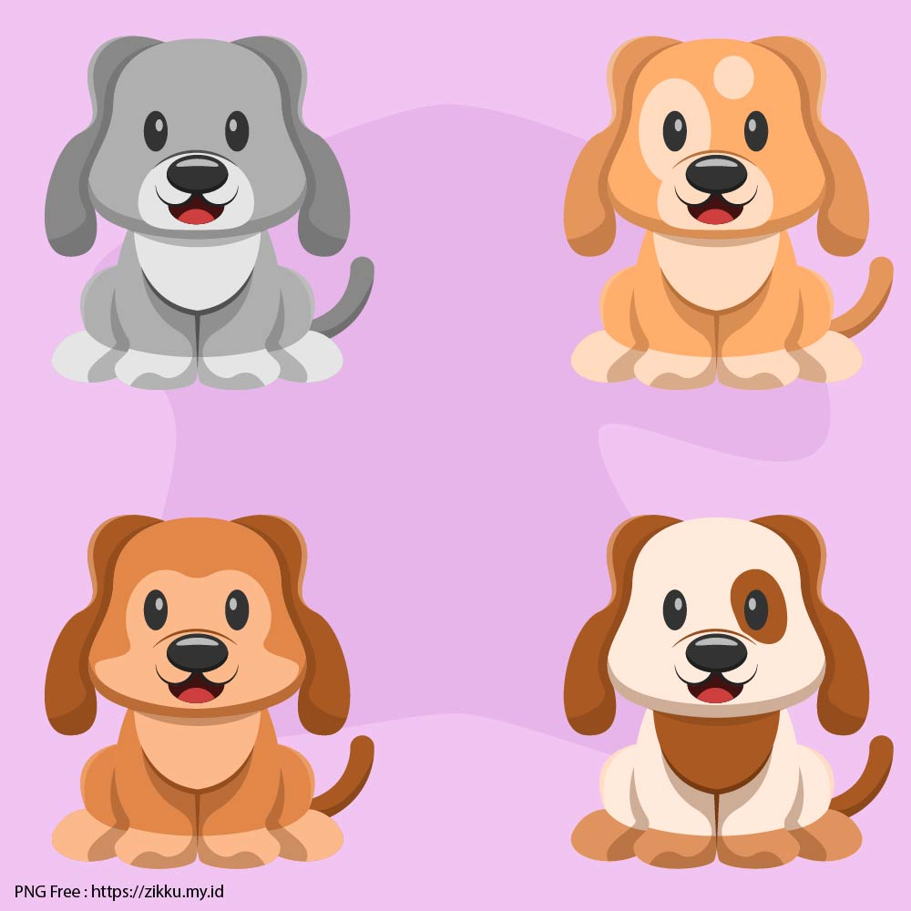 Cute Puppy Collection PNG Free