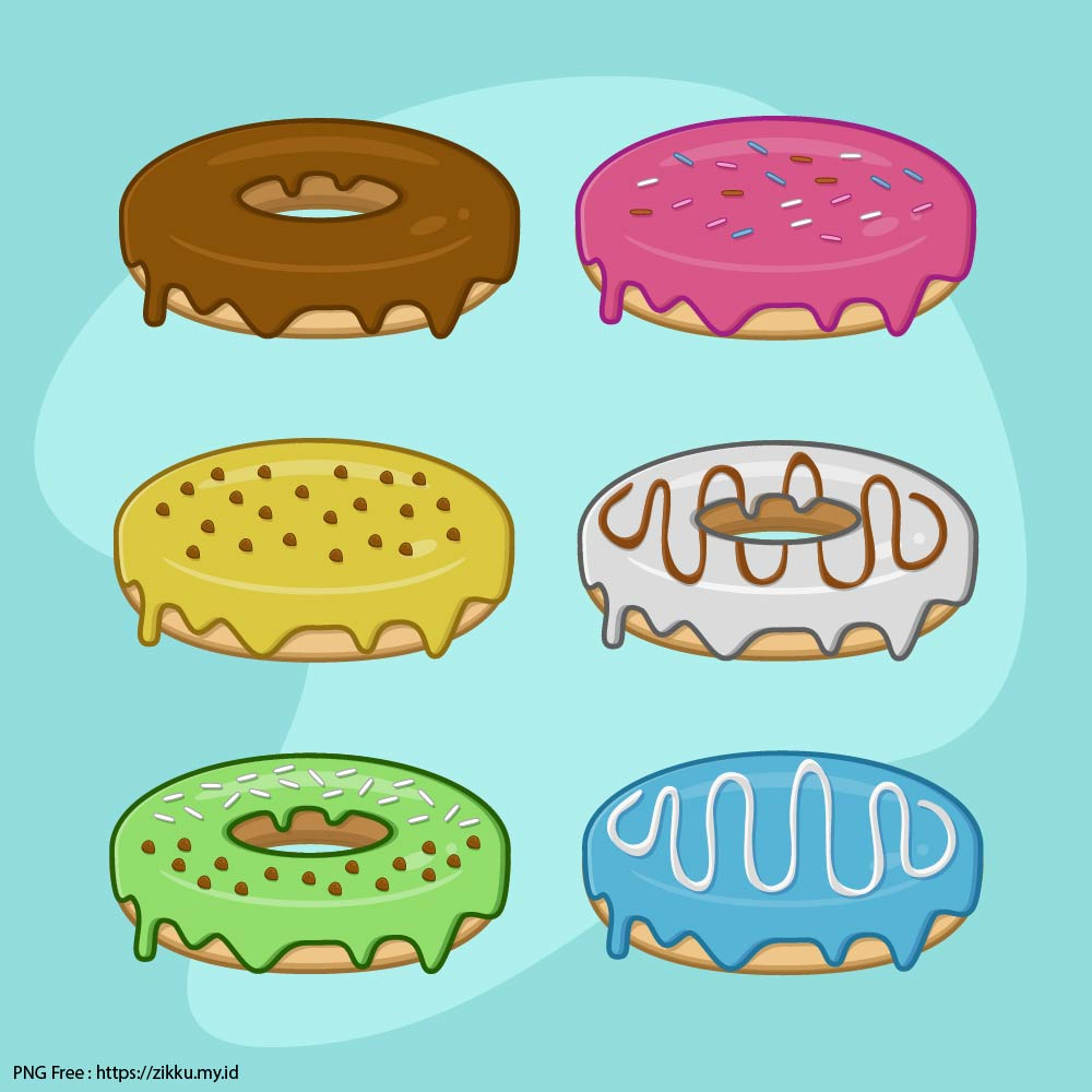 Donut Image Collection PNG Free