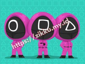 Squid Game Masked Men Illustration